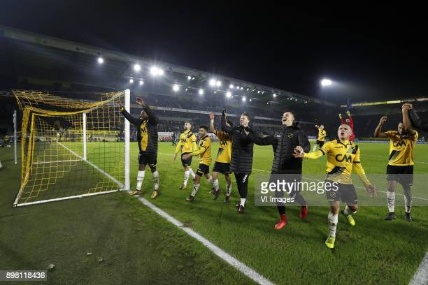 Thierry Ambrose of NAC Breda James Horsfield of NAC Breda Mounir El Allouchi of NAC Breda Manu Garcia of NAC Breda Marvin Reuvers of NAC Breda...