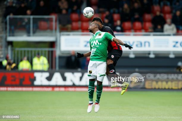 Thierry Ambrose of NAC Breda Lorenzo Burnet of Excelsior during the Dutch Eredivisie match between sbv Excelsior Rotterdam and NAC Breda at Van Donge...