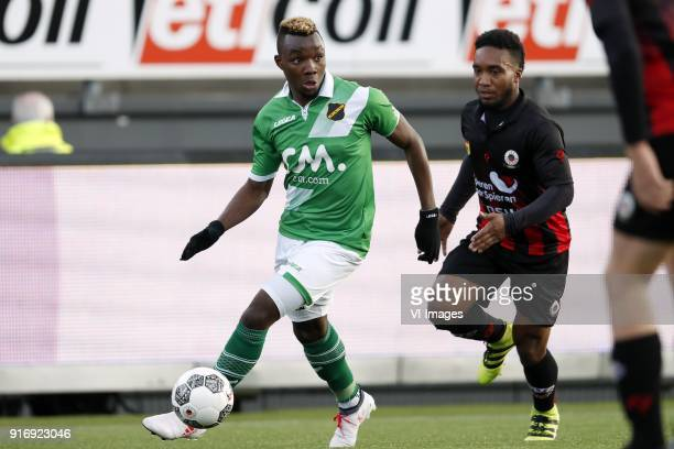 Thierry Ambrose of NAC Breda Lorenzo Burnet of sbv Excelsior during the Dutch Eredivisie match between sbv Excelsior Rotterdam and NAC Breda at Van...