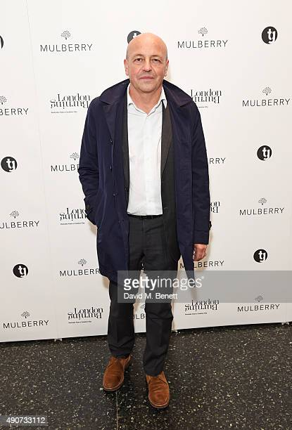 Thierry Andretta, Mulberry CEO, attends the London Burning Launch Event at The ICA supported by Mulberry at the ICA on September 30, 2015 in London,...