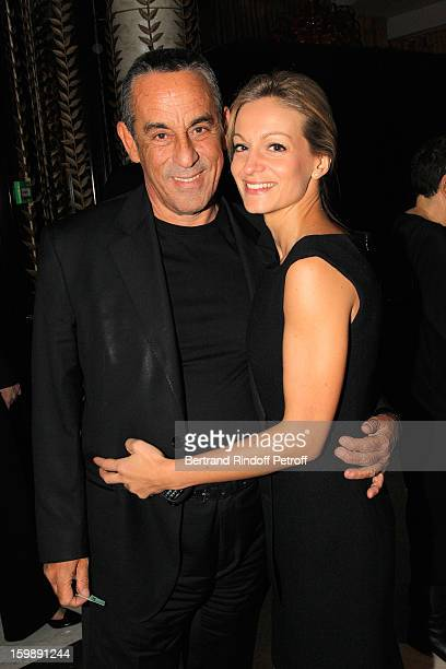 Thierry Ardisson and Audrey CrespoMara attend 'La Petite Maison De Nicole' Inauguration Cocktail at Hotel Fouquet's Barriere on January 22 2013 in...