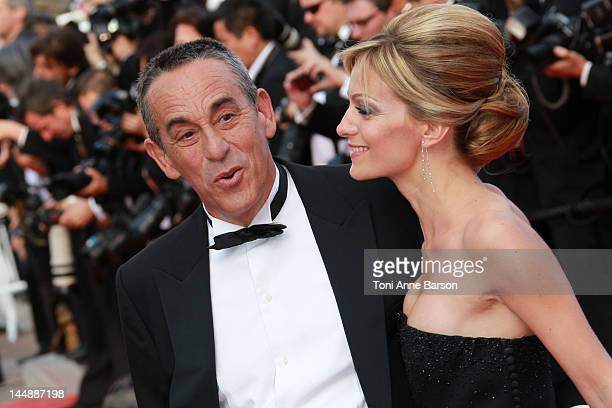 Thierry Ardisson and Audrey CrespoMara attend Lawless Premiere at Palais des Festivals on May 19 2012 in Cannes France