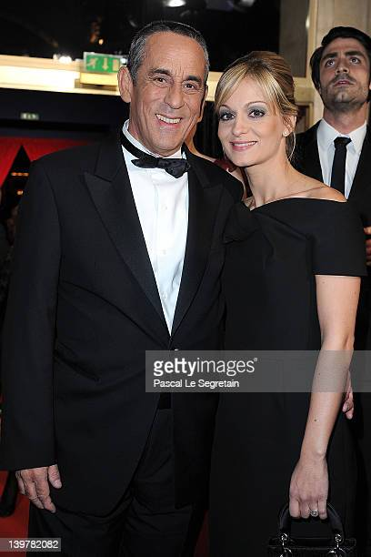 Thierry Ardisson and Audrey CrespoMara attend the 37th Cesar Film Awards at Theatre du Chatelet on February 24 2012 in Paris France