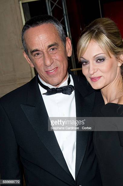 Thierry Ardisson and Audrey CrespoMara attend the 37th Cesar Film Awards at Theatre du Chatelet in Paris
