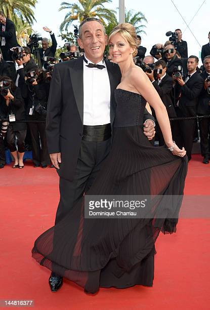 Thierry Ardisson and Audrey CrespoMara attend the 'Lawless' Premiere during the 65th Annual Cannes Film Festival at Palais des Festivals on May 19...