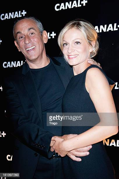 Thierry Ardisson and Audrey CrespoMara attends the Canal New Season Celebration Party on September 6 2012 in Paris France