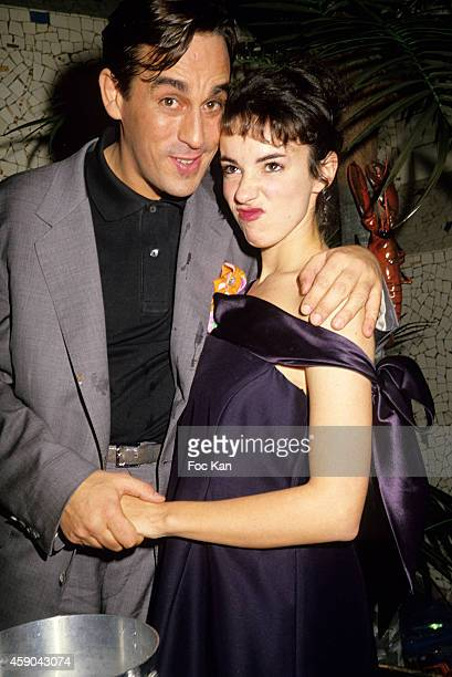 Thierry Ardisson and Beatrice Ardisson attend a party at Les Bains Douches in the 1980s in Paris France