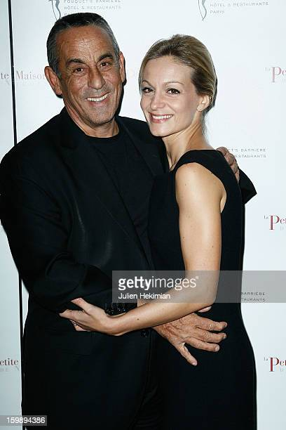 Thierry Ardisson and his wife attend 'La Petite Maison De Nicole' Inauguration Photocall at Hotel Fouquet's Barriere on January 22 2013 in Paris...