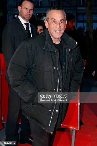 Thierry Ardisson attends 'Des gens qui s'embrassent' movie premiere at Cinema Gaumont Marignan on April 1 2013 in Paris France