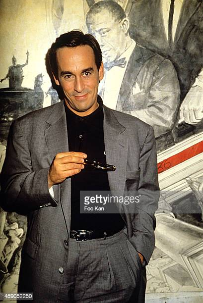 Thierry Ardisson attends Lunettes Noires Pour Nuits Blanches Party at Les Bains Douches in the 1980s in Paris France