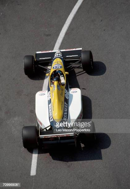 Thierry Boutsen of Belgium, driving a Williams FW12C with a Renault RS1 3.5 V10 engine for Canon Williams Renault, enroute to placing 10th during the...