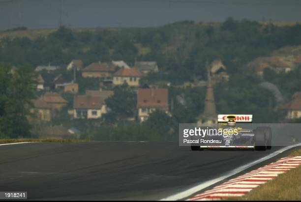 Thierry Boutsen of Belgium in action in his Williams Renault during the Hungarian Grand Prix at the Hungaroring circuit in Budapest Hungary Boutsen...