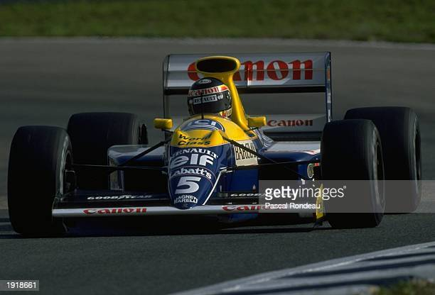 Thierry Boutsen of Belgium in action in his Williams Renault during the Spanish Grand Prix at the Jerez circuit in Spain Boutsen finished in fourth...
