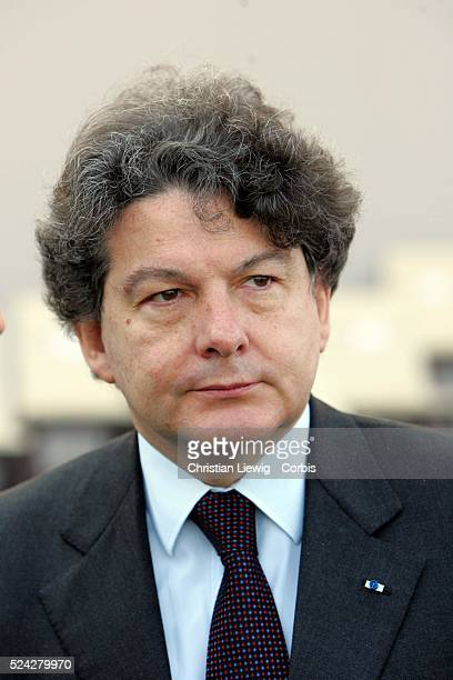 Thierry Breton, Minister of Finance, attends the traditional Bastille Day military ceremony on the Champs Elysees.