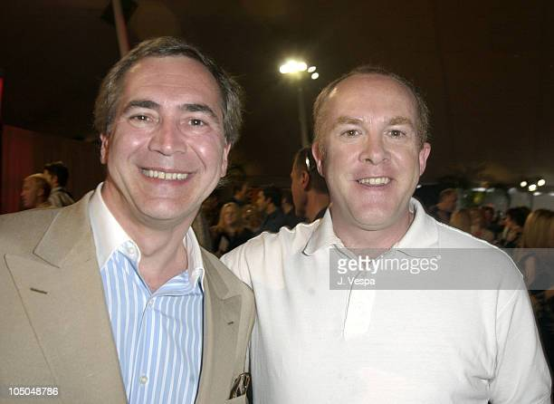 Thierry Chaunu and Cassian Elwes during The 18th Annual IFP Independent Spirit Awards - Backstage at Santa Monica Beach in Santa Monica, California,...