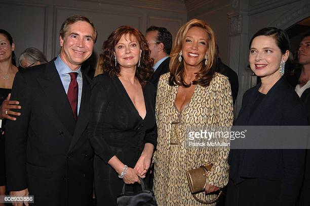 Thierry Chaunu Susan Sarandon Denise Rich and Isabella Rossellini attend LEVIEV Diamond Jewelry Collection Unveiling Event at Madison Avenue on...