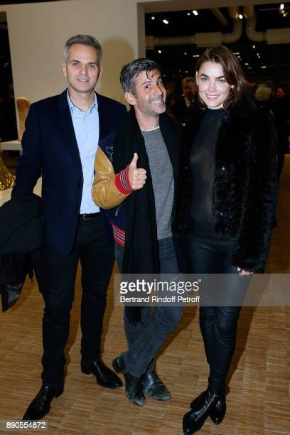 Thierry Coste Andre Saraiva and Bamby Blight attend the Cesar Retrospective at Centre Pompidou on December 11 2017 in Paris France