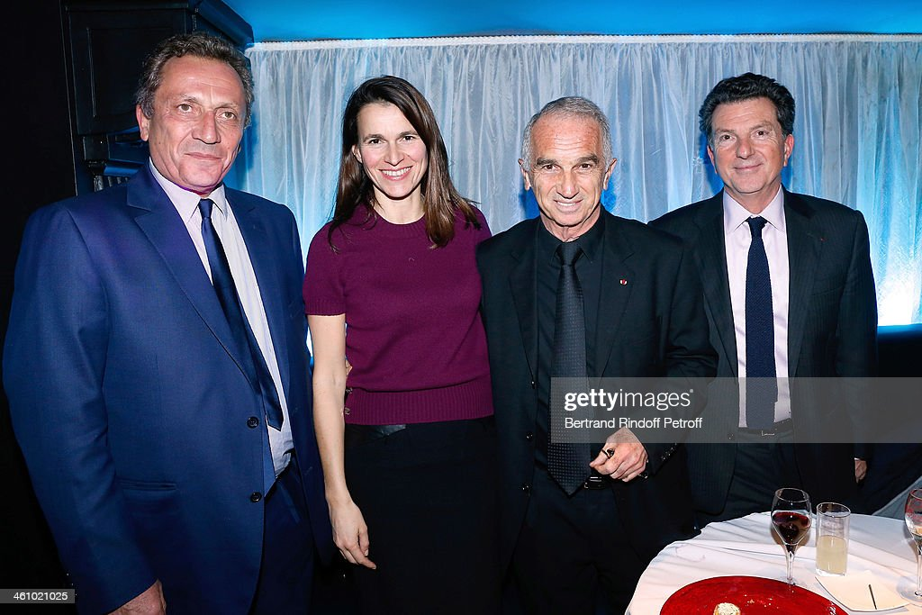 Thierry de Segonzac, French Culture Minister Aurelie Filippetti, President of the 'Cesar', the French Academy Awards Alain Terzian and CEO of Audiens Patrick Bezier attend 'Cesar et Techniques 2014' Award Ceremony at Club Haussmann on January 6, 2014 in Paris, France.