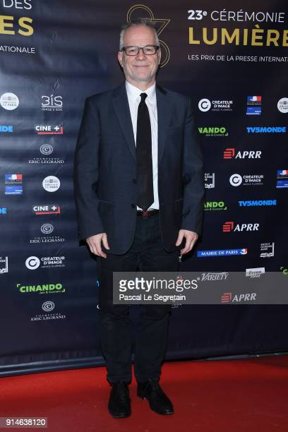 Thierry Fremaux attends the 23rd Lumieres Award Ceremony at Institut du Monde Arabe on February 5 2018 in Paris France