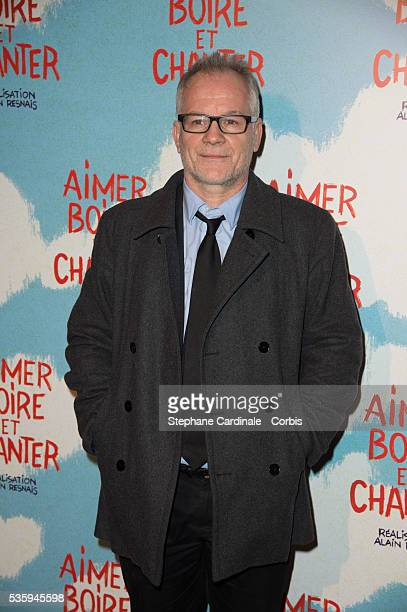 Thierry Fremaux attends the premiere of 'Aimer Boire et Chanter' in Paris