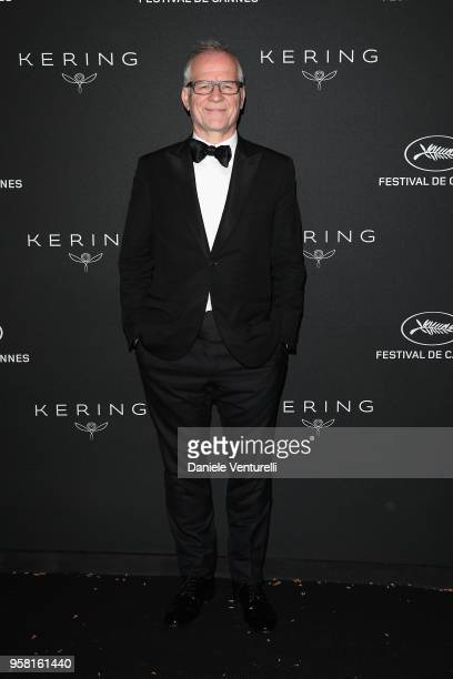 Thierry Fremaux attends the Women in Motion Awards Dinner, presented by Kering and the 71th Cannes Film Festival, at Place de la Castre on May 13,...