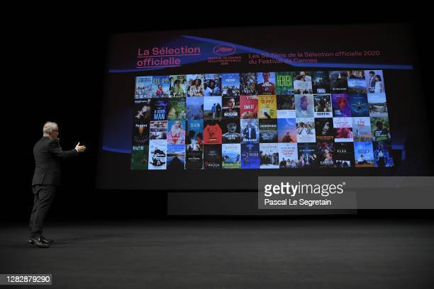 "Thierry Fremaux speaks on stage during the Best Short Film Palme D'Or Award Ceremony of the ""Special Cannes 2020 : Le Festival Revient Sur La..."