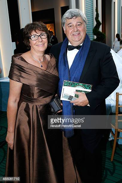 Thierry Fritsch with his wife Marie Claire attend the 27th 'Biennale des Antiquaires' Pre Opening at Le Grand Palais on September 9 2014 in Paris...
