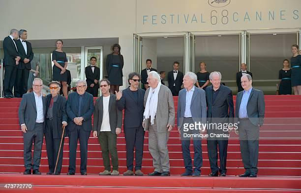 Thierry Frémaux, Vittorio Taviani, Paolo Taviani,Jury presidents Joel Coen and Ethan Coen and directors Bertrand Tavernier, Jean-Pierre Dardenne, Luc...