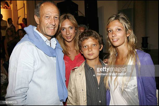Thierry Gaubert and children Anastasia Mylena and Leo at 25th Anniversary Of Ramatuelle Festival Celebrations Last Day