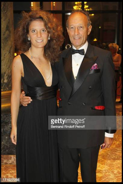 Thierry Gaubert and companion at Deauville Ball In Benefit Of Care France