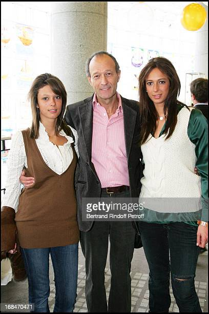 Thierry Gaubert and daughters Milena and Anastasia Arop Gala at the Bastille Opera for Reve D'Enfants Coppelia Ballet by Patrice Bart