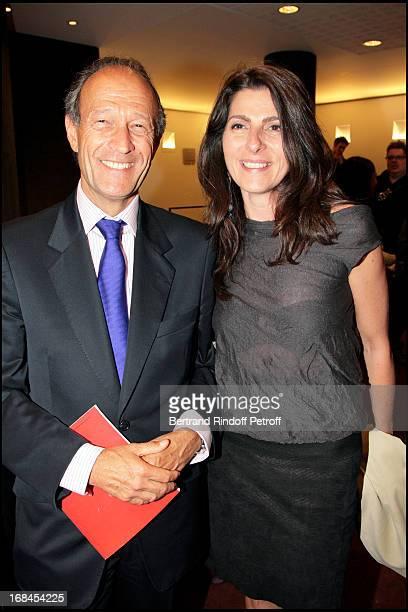Thierry Gaubert and Denise Vilgrain at Art Toy Benefit Auction At Christie's For Association Paris Tout P'Tits