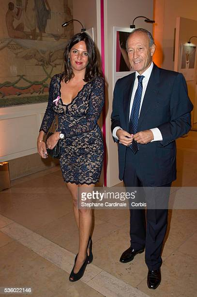 Thierry Gaubert and guest attend the 'Octobre Rose' Party Hosted By Estee Lauder at Palais de Chaillot on October 7 2014 in Paris France