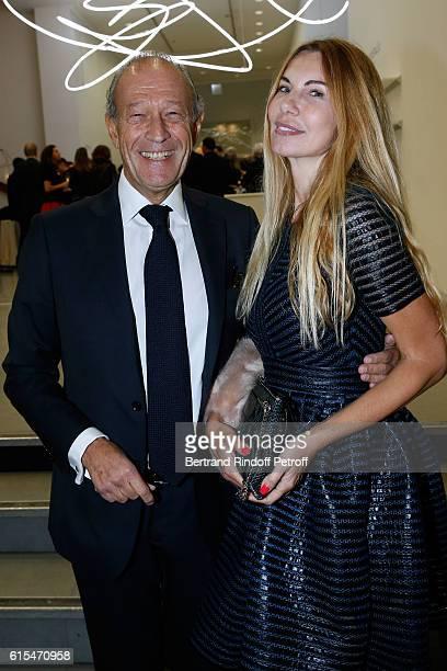 Thierry Gaubert and Mandy Van Zwam attend the Societe des Amis du Musee d'Art Moderne Dinner Party at the Musee d'Art Moderne on October 18 2016 in...