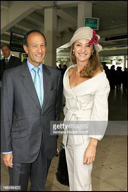 Thierry Gaubert and Princess Emmanuel De Rohan Chabot 85th race of the Arc De Triomphe 2006 at the Longchamp racecourse