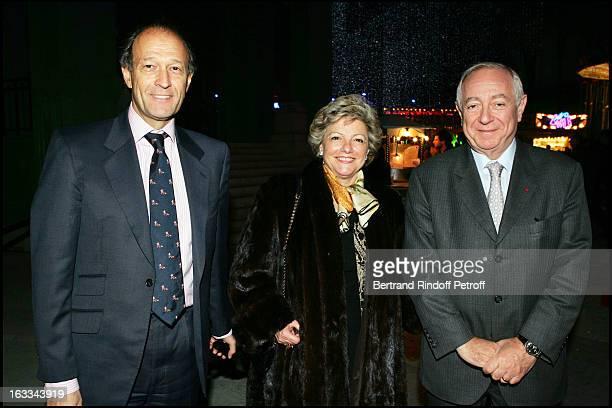 Thierry Gaubert and the President De La Caisse D' Epargne at Jours De Fetes Evening Festivities At The Grand Palais In Paris