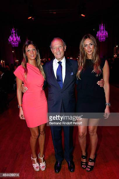 Thierry Gaubert with his daughters Milena and Nastasia attend the Grand Bal de Deauville For Care France Association in Casino Barriere de Deauville...