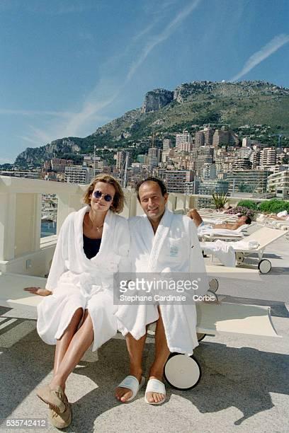 Thierry Gaubert with wife Helene of Yugoslavia in Monaco