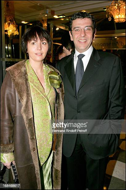 Thierry Gilardi and wife at Fashion Against Aid Party In Paris.