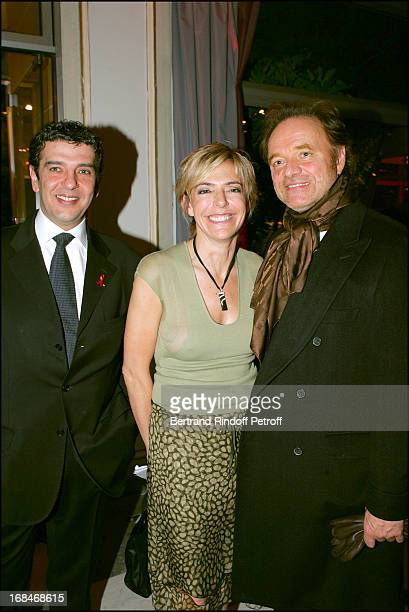 Thierry Gilardi, Patricia Goldman and Guillaume Durand at Fashion Against Aid Party In Paris.
