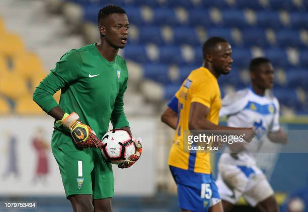 Thierry Graca of GD Estoril Praia in action during the Ledman Liga Pro match between GD Estoril Praia and FC Arouca at Estadio Antonio Coimbra da...