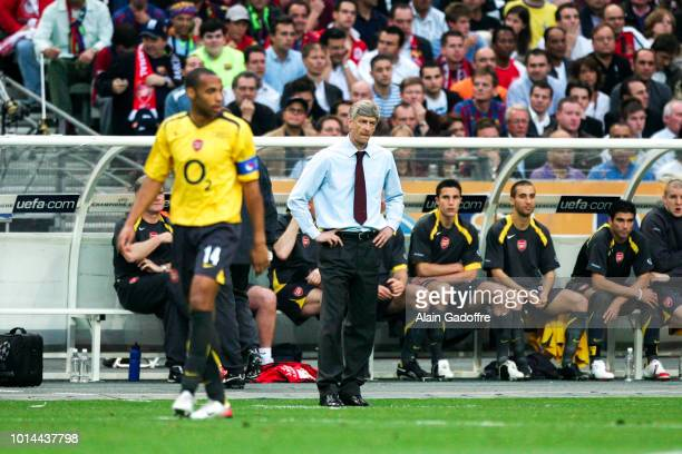 Thierry Henry and Arsene Wenger head coach of Arsenal during the Champions League Final match between Barcelona and Arsenal at Stade de France Paris...