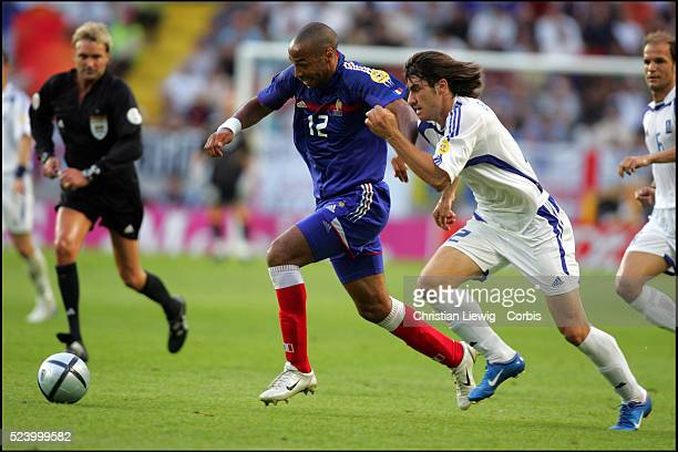Thierry Henry and Giourkas Seitaridis