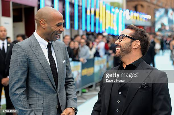 Thierry Henry and Jeremy Piven attend the European Premiere of Entourage at Vue West End on June 9 2015 in London England