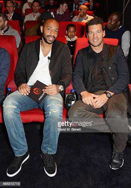 Thierry Henry and Michael Ballack attend the Beats by Dre 'The Game Before The Game' film screening event at W LondonLeicester Square on June 2 2014...