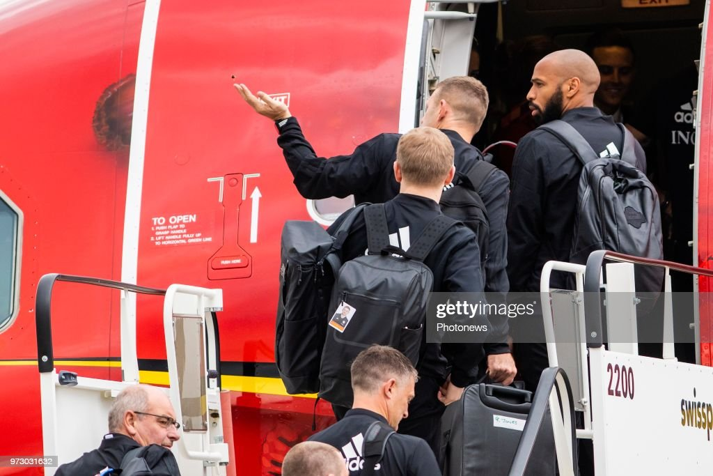 Thierry Henry ass. coach of Belgian Team during the departure of the National Football Team of Belgium to the FIFA 2018 World Cup Football in Russia at Zaventem Airport on June 13, 2018 in Brussels, Belgium,