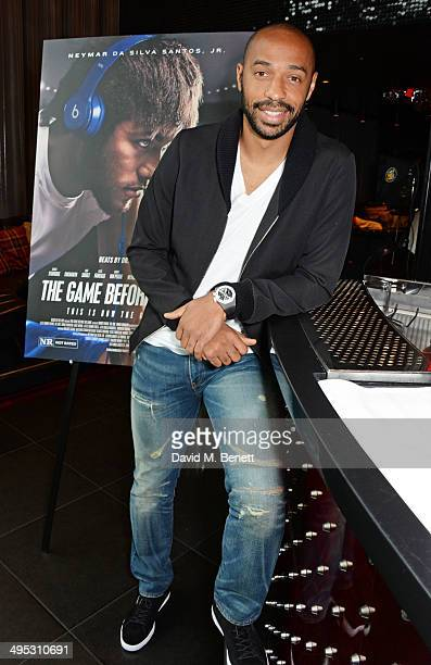 Thierry Henry attends the Beats by Dre 'The Game Before The Game' film screening event at W LondonLeicester Square on June 2 2014 in London England