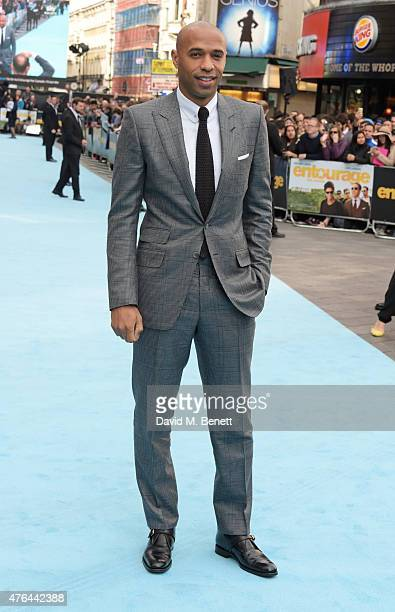 Thierry Henry attends the European Premiere of 'Entourage' at the Vue West End on June 9 2015 in London England
