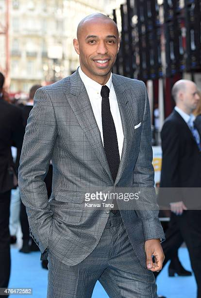 Thierry Henry attends the European Premiere of 'Entourage' at Vue West End on June 9 2015 in London England