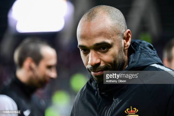 Thierry Henry coach of Monaco during the Ligue 1 match between Amiens SC and AS Monaco on December 4 2018 in Amiens France